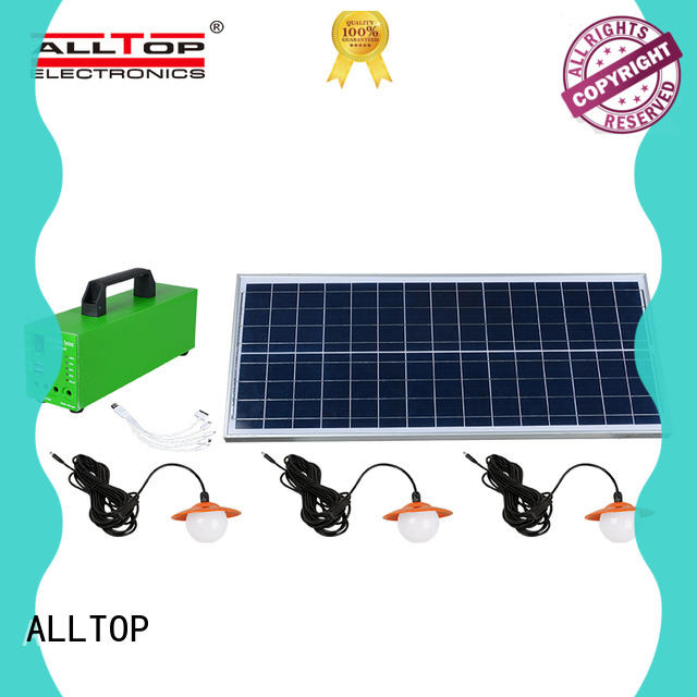 ALLTOP energy-saving indoor solar lighting system for wholesale for outdoor lighting