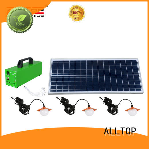 solar lighting system price panel for camping ALLTOP