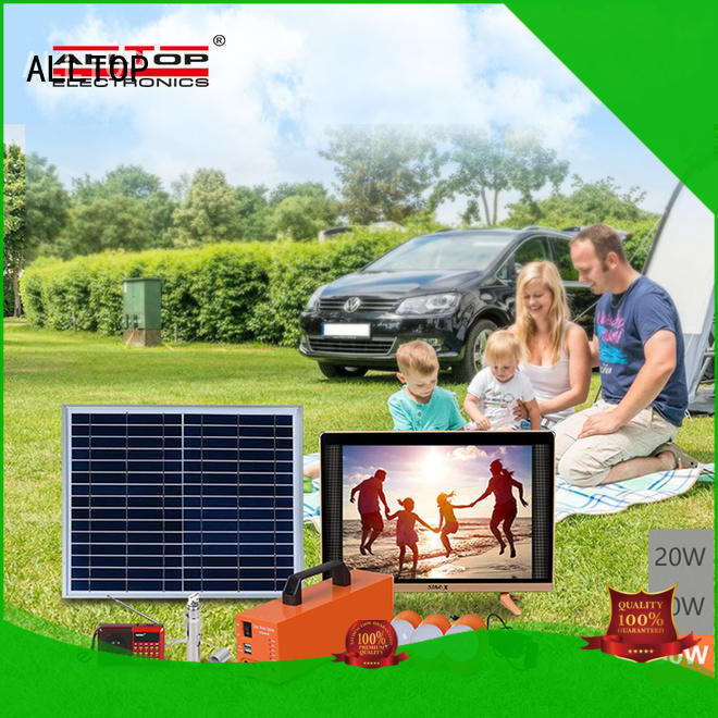 ALLTOP portable solar home lighting system for wholesale for camping