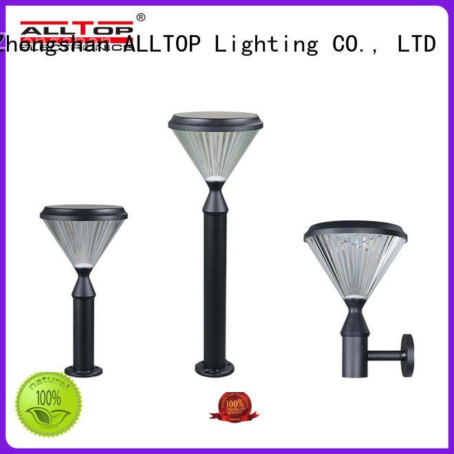 ALLTOP classical solar pillar lights bulk production for landscape