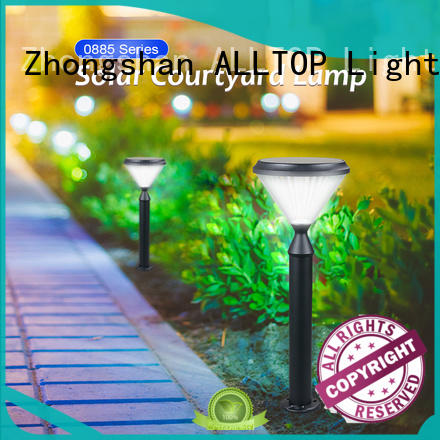 ALLTOP high quality bright solar garden lights main gate for landscape