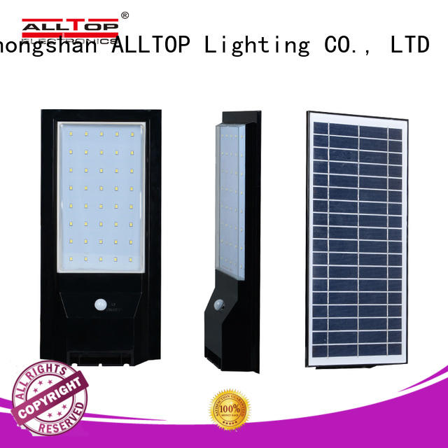 ALLTOP stainless steel solar led wall pack wide usage for garden
