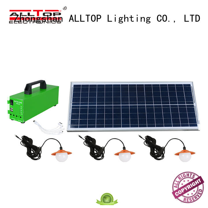 backup led potable battery solar led lighting system ALLTOP