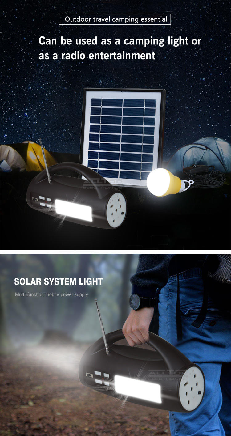 ALLTOP -Solar Lighting System, Energy Saving Ip65 Portable Camping Abs 8w Multifunctional-2