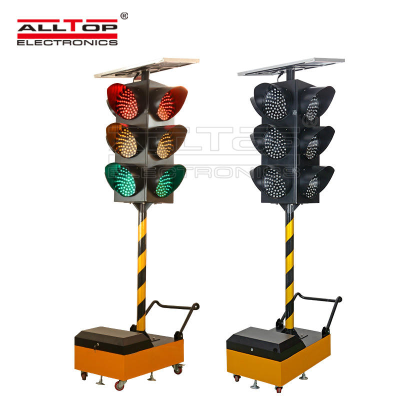 Traffic flash light mobile Intelligent solar traffic light solar safety warning light-1