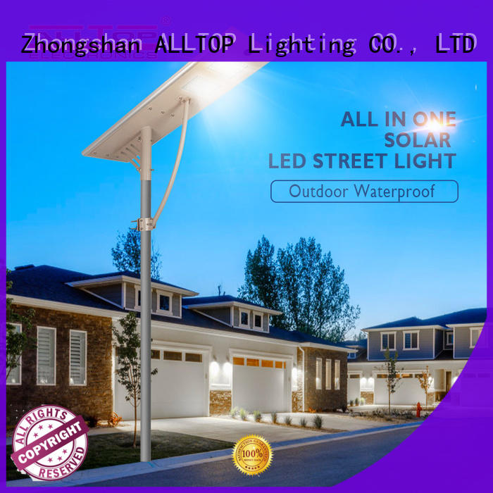 solar street light with motion sensor sensor for garden ALLTOP