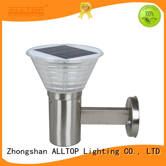 ALLTOP high quality solar wall sconce directly sale highway lighting