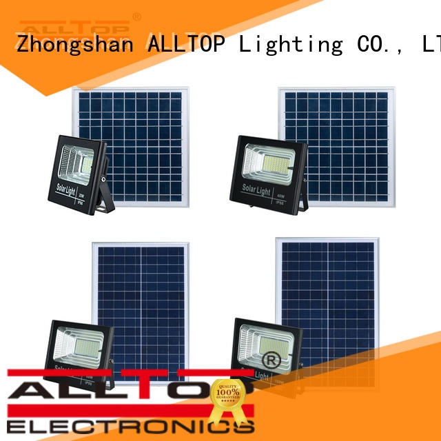 ALLTOP folding solar sensor flood lights custom for stadium