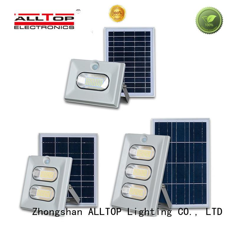 ALLTOP square solar powered flood light dusk to dawn outdoor brightness for spotlight