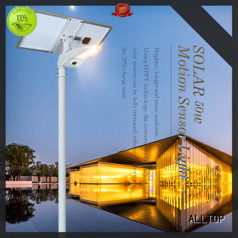 ALLTOP china solar street light aluminum for playground