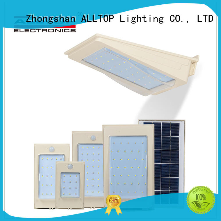 small solar wall lights aluminum for street lighting ALLTOP
