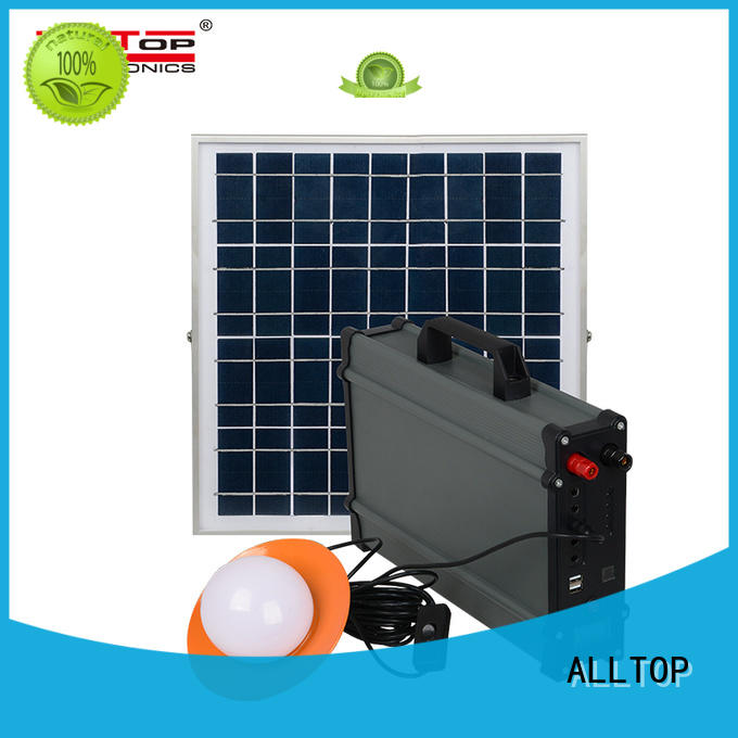 ALLTOP emergency solar lighting system price at discount for outdoor lighting