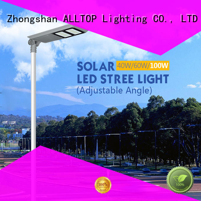 integrated all in one integrated solar street light factory price for highway ALLTOP